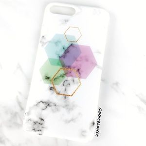 Accessories - NEW iPhone 7/8/7+/8+ Geometric Marble Soft Case